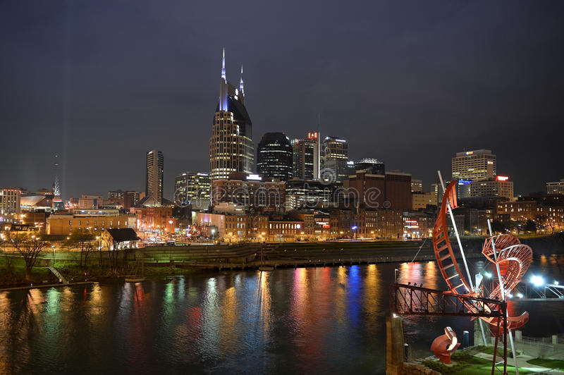 Downtown Nashville Tennessee royalty free stock photography