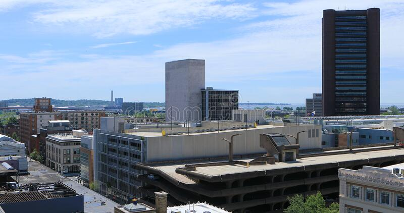 Downtown New Haven, Connecticut, United States. View of Downtown New Haven, Connecticut, United States stock photography