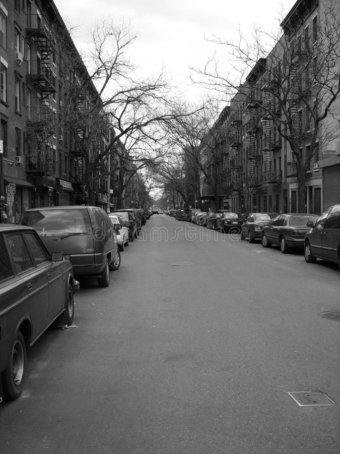 Downtown Newyork brownstone stock images