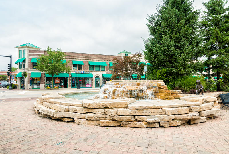 Downtown Northbrook, Illinoi, USA. NORTHBROOK, UNITED STATES - AUGUST 22, 2014: Downtown Northbrook, is a village on Chicago's affluent North Shore, located at stock photography