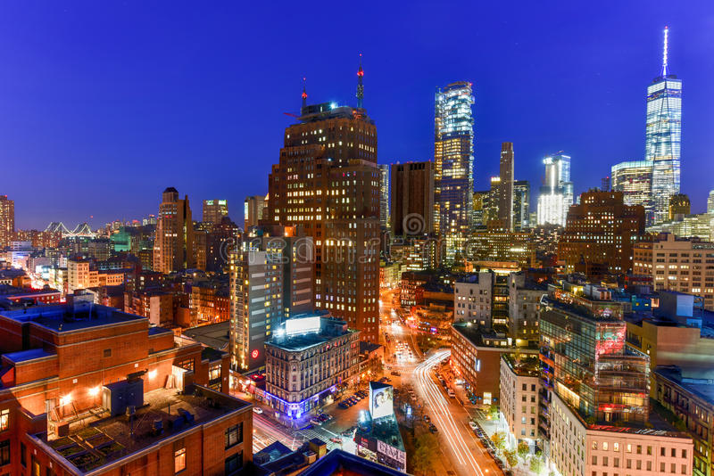 Downtown NYC Skyline royalty free stock images