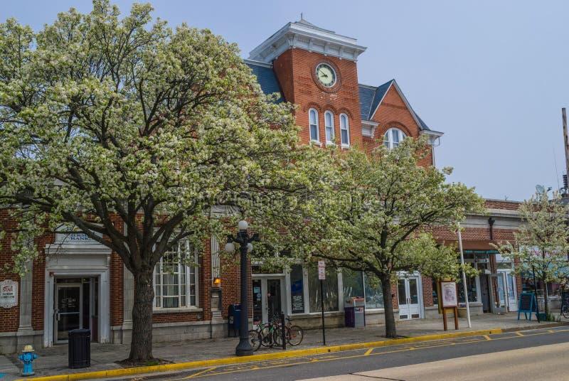Downtown Ocean Grove stock photography