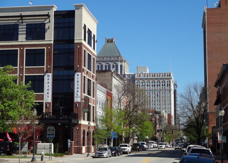 Downtown (Old) Greensboro, North Carolina stock photo