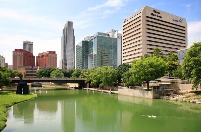 Downtown Omaha, Nebraska skyline royalty free stock image