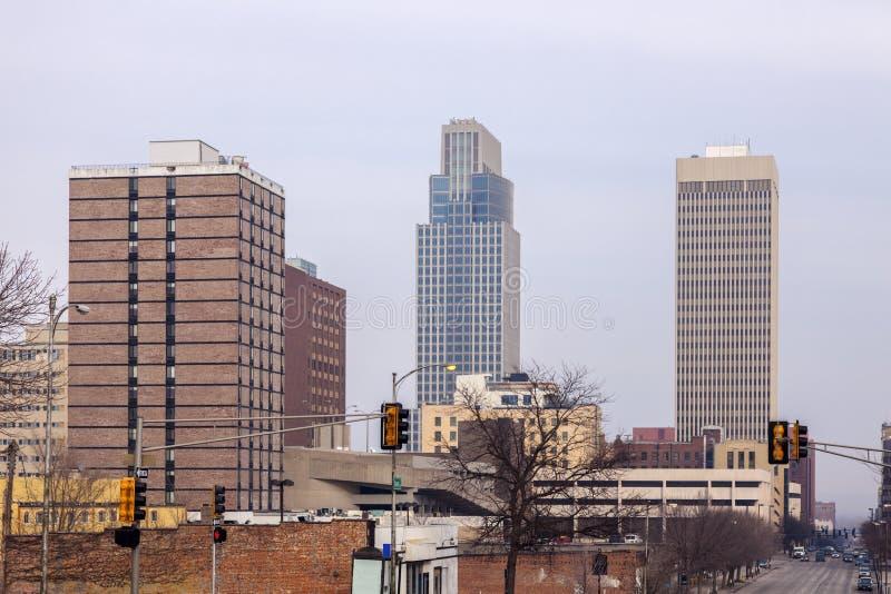 Downtown of Omaha. Panorama. Omaha, Nebraska, USA royalty free stock image
