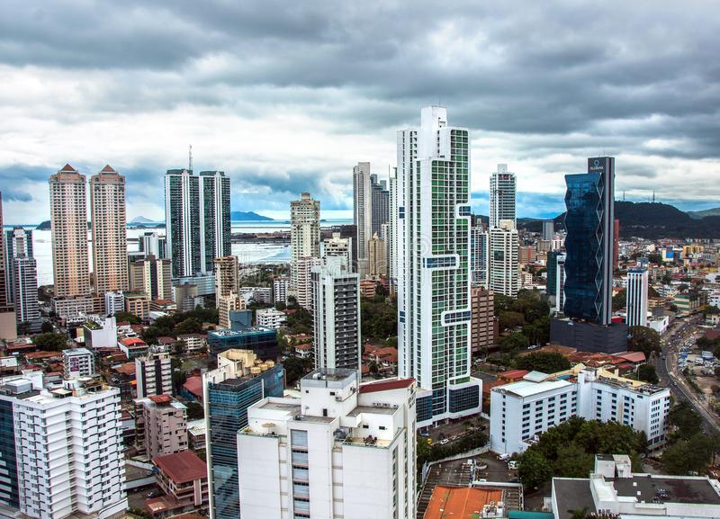 Downtown Panama City Skyscrapers, Panama royalty free stock images