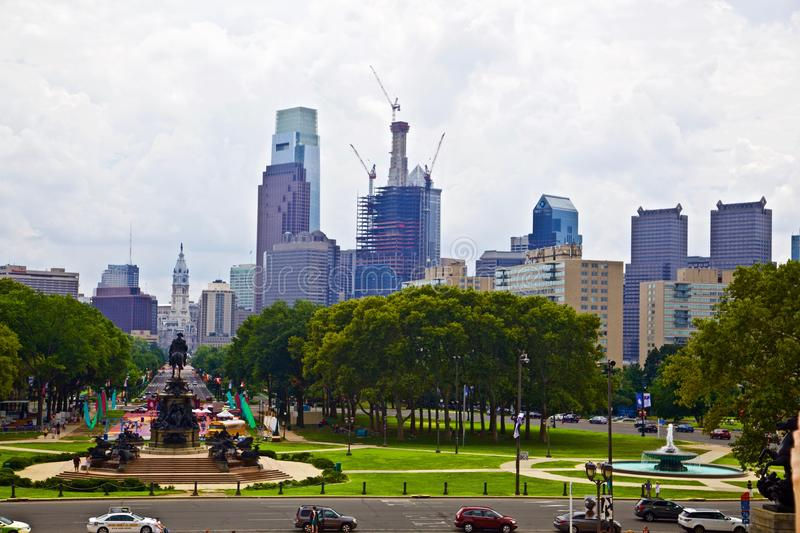 Downtown philadelphia in pennsylvania USA royalty free stock photo