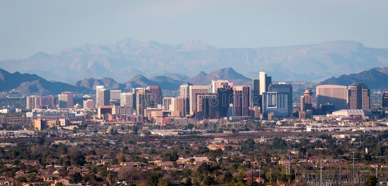 Downtown Phoenix Arizona Luftpanorama stockfotos