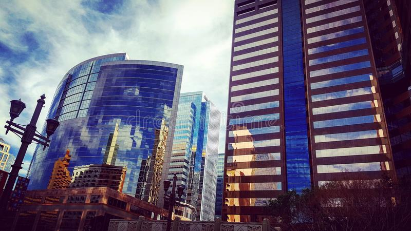 Downtown Phoenix City Scape. Great view of buildings in Downtown Phoenix, AZ royalty free stock photography