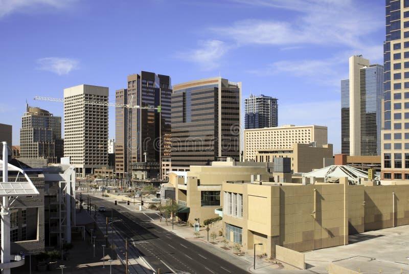 Downtown Phoenix Office Buildings Arizona. Downtown Phoenix Arizona modern workplace office buildings panorama stock images