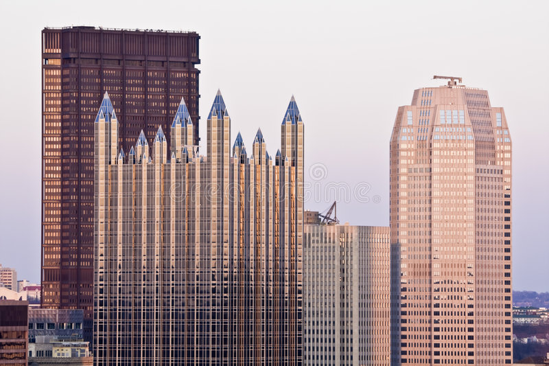 Download Downtown Pittsburgh stock image. Image of destinations - 8917963
