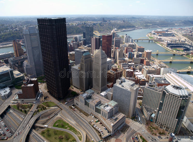 Download Downtown Pittsburgh Aerial Stock Images - Image: 13032114