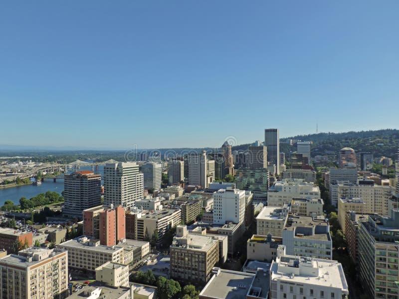 Downtown Portland Oregon City Skyline royalty free stock images