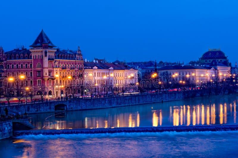 Download Downtown Prague at Night stock photo. Image of town, europe - 22181442