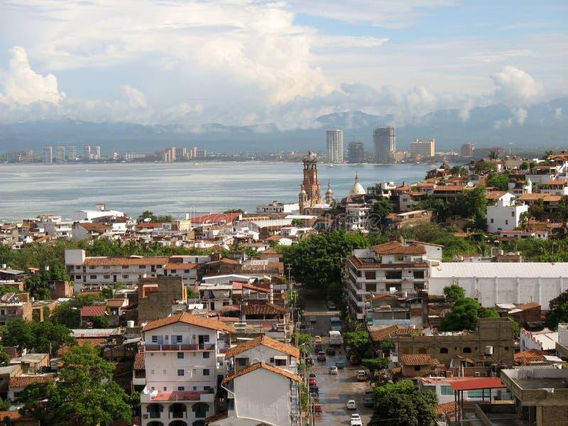 Downtown Puerto Vallarta royalty free stock photos