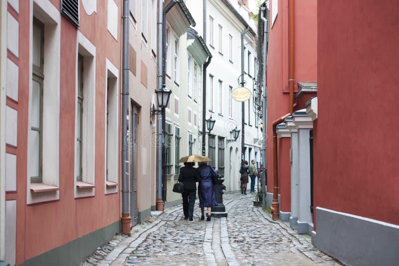 Street in Riga, Latvia stock photos