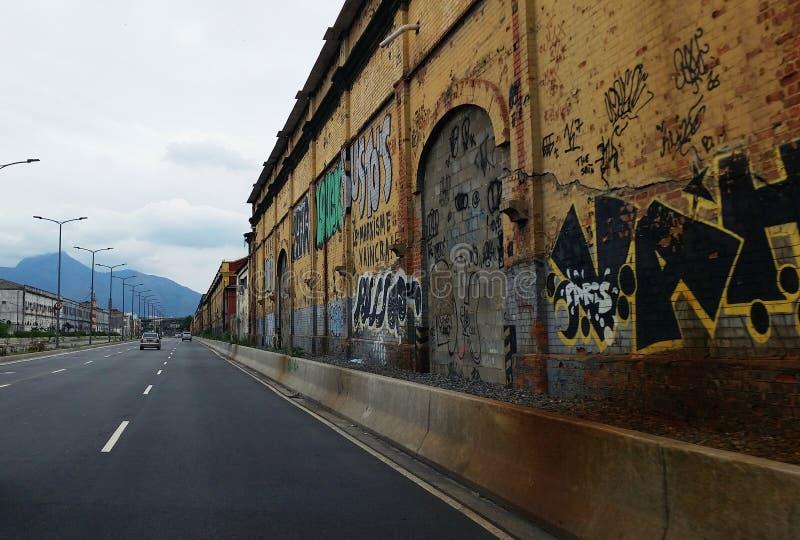 Downtown of Rio de JaneiroWalls with graffiti on the street of Rio de Janeiro. Walls with graffiti on the street of Rio de Janeiro Brazil stock photography