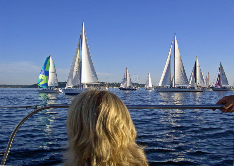 Downtown Sailing Series stock photography