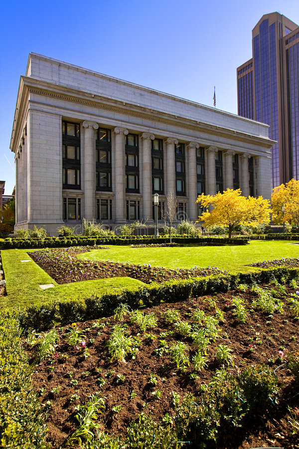 Downtown Salt Lake City stock photo