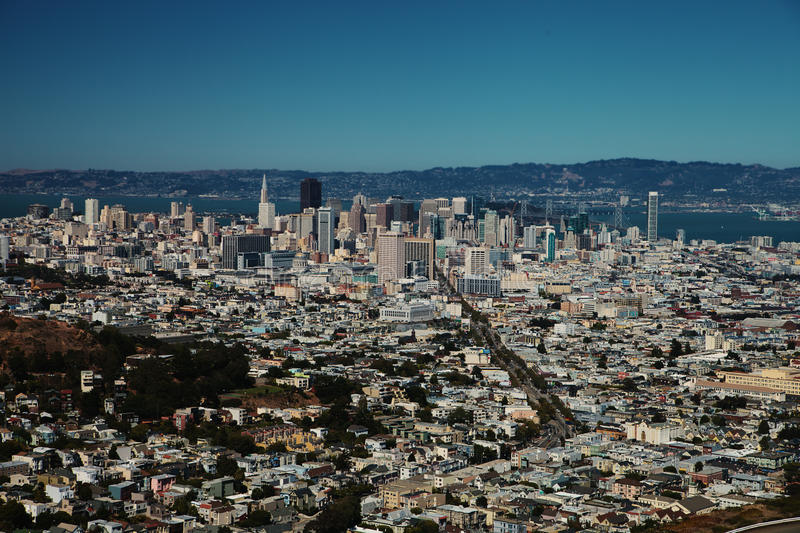 Download Downtown of San Francisco stock image. Image of town - 26615645