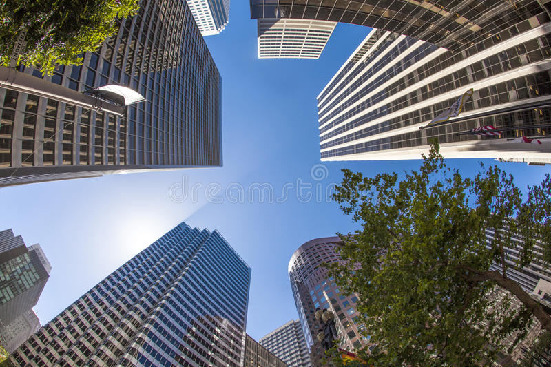 Downtown San Francisco with office buildings royalty free stock photo