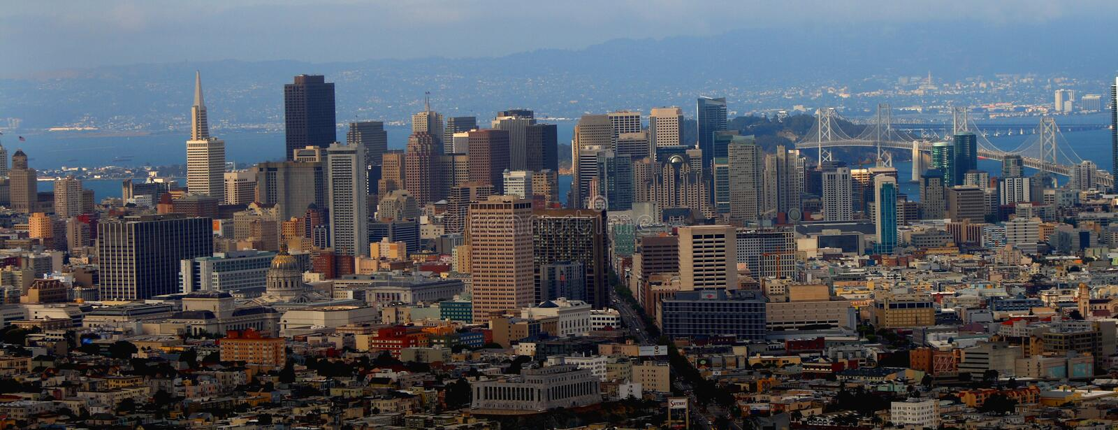 Download Downtown Of San Francisco Panorama Stock Image - Image: 15949251