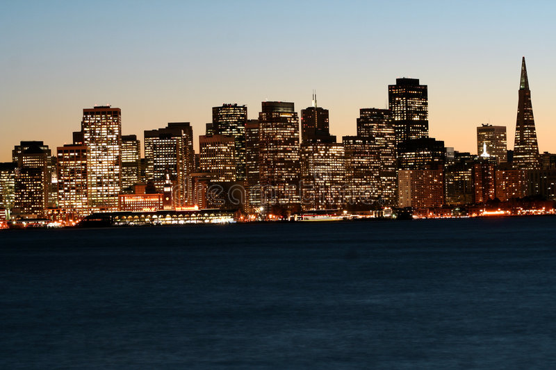 Downtown San Francisco after s royalty free stock photography