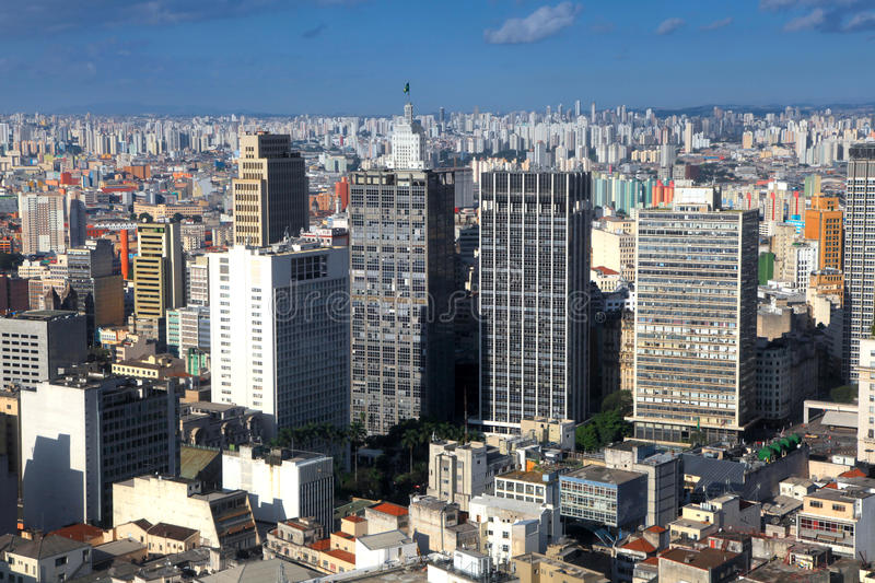 Downtown Sao Paulo stock images