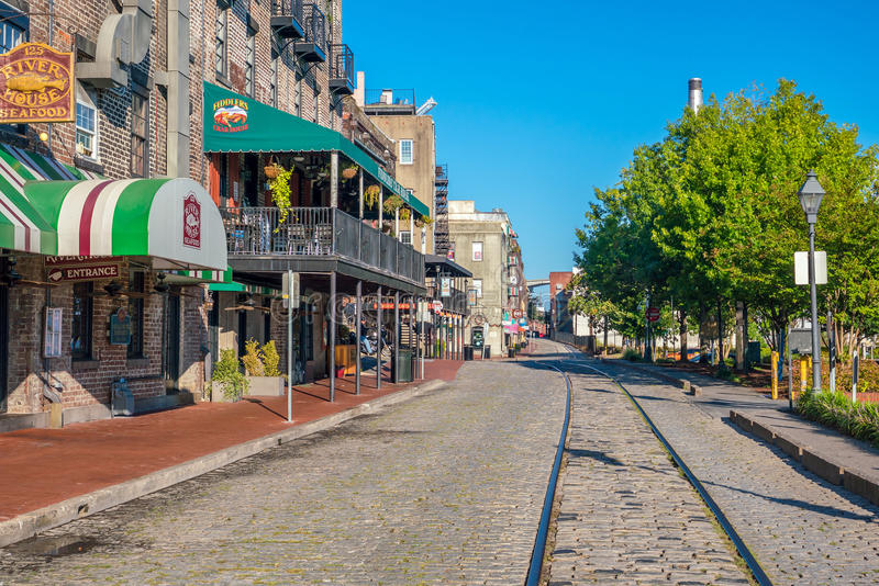 Downtown Savannah Georgia USA stock photography