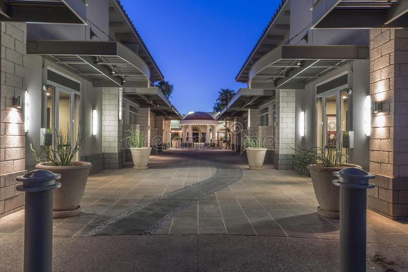 Downtown Scottsdale Arizona in the Old Town District. stock photos