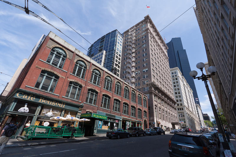 Download Downtown Seattle editorial stock image. Image of historical - 16025434