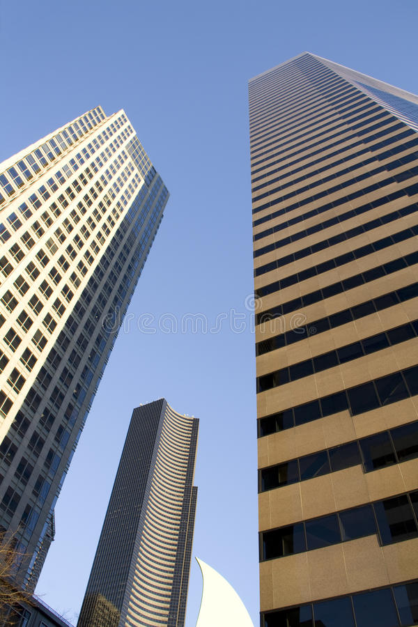 Downtown seattle office buidlings stock photos