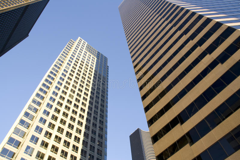 Downtown seattle office buidlings royalty free stock images
