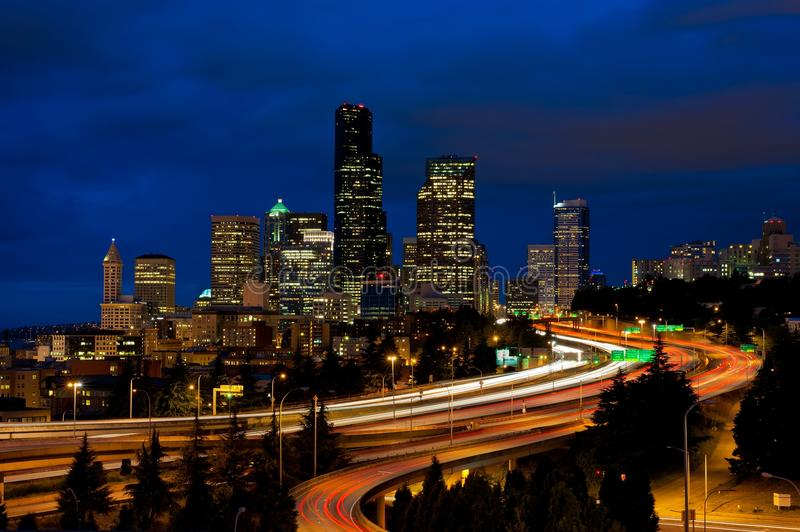 Download Downtown Seattle Skyline stock image. Image of park, exposure - 20116499