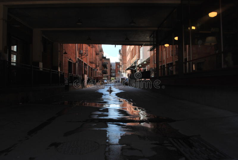 Downtown alley way royalty free stock photography