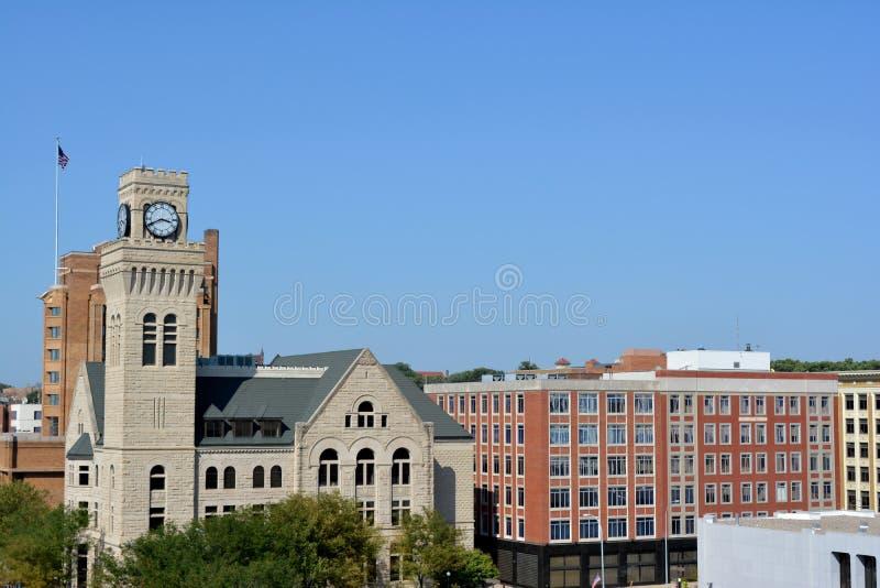 Downtown Sioux City, Iowa stock photo
