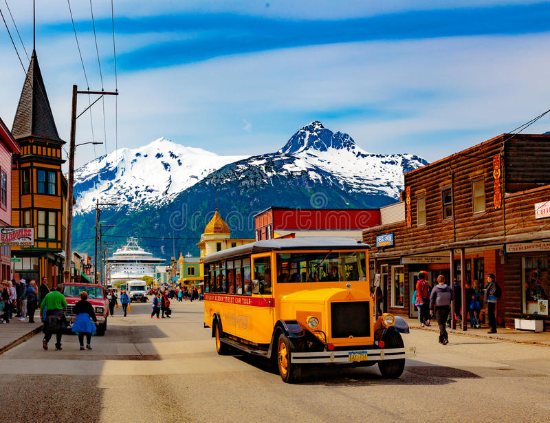 Downtown Skagway royalty free stock images