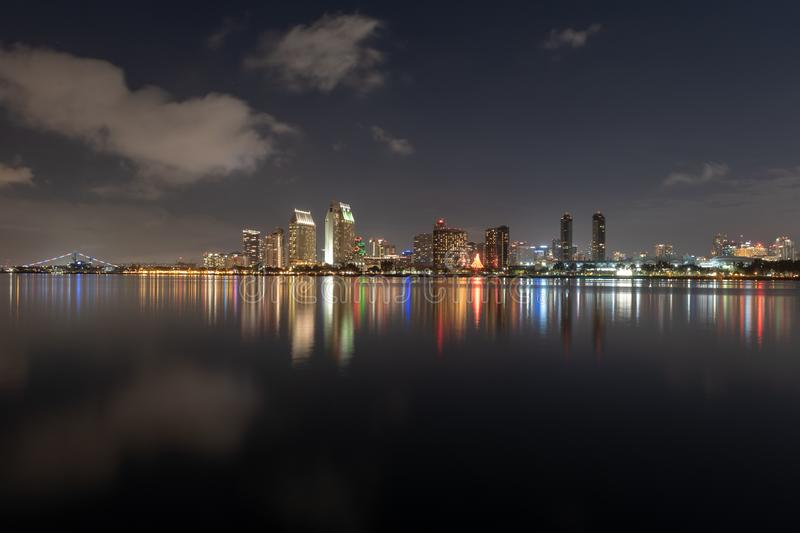 Downtown Skyline at the Embarcadero, San Diego royalty free stock photo