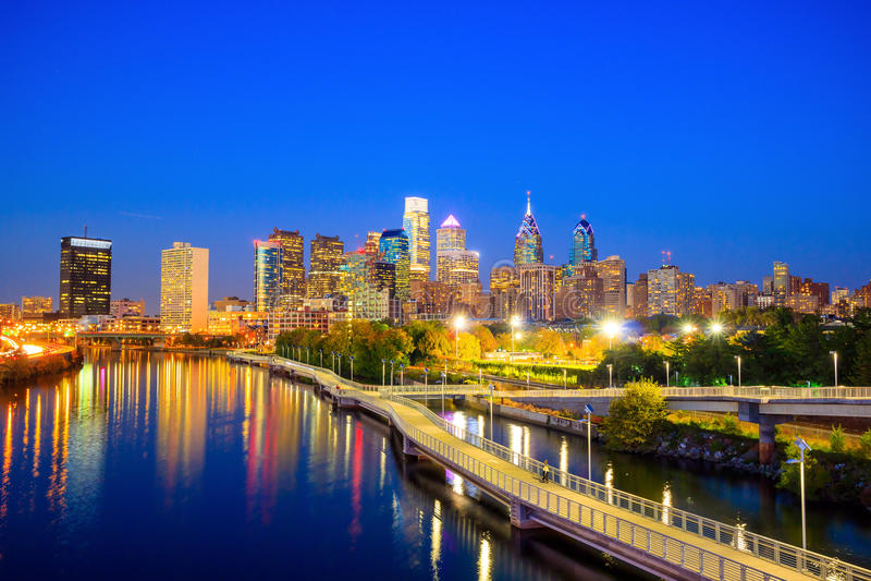 Downtown Skyline of Philadelphia stock photography