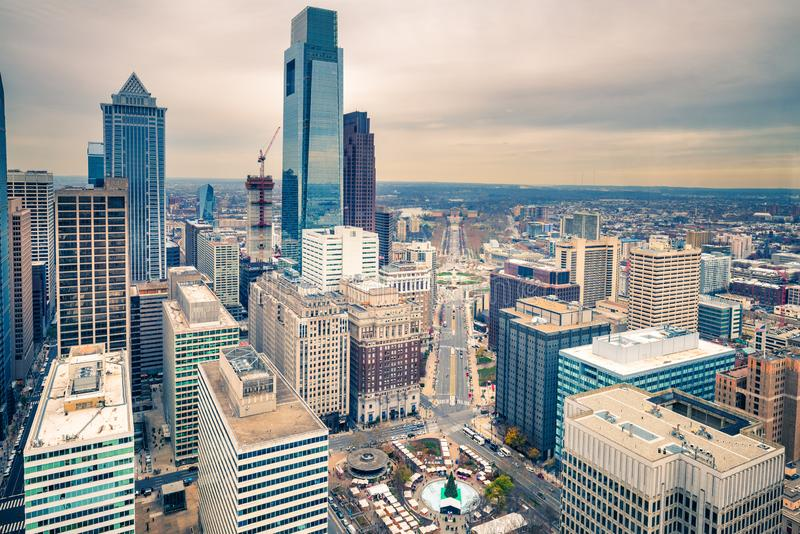 Downtown skyline of Philadelphia USA royalty free stock photos