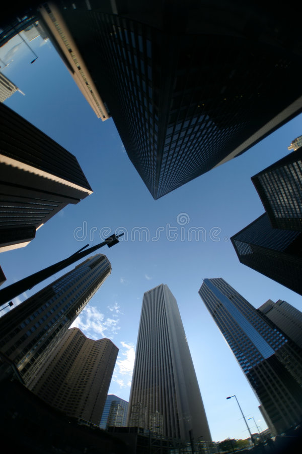 Download Downtown Skyscraper stock image. Image of angle, architecture - 1395207