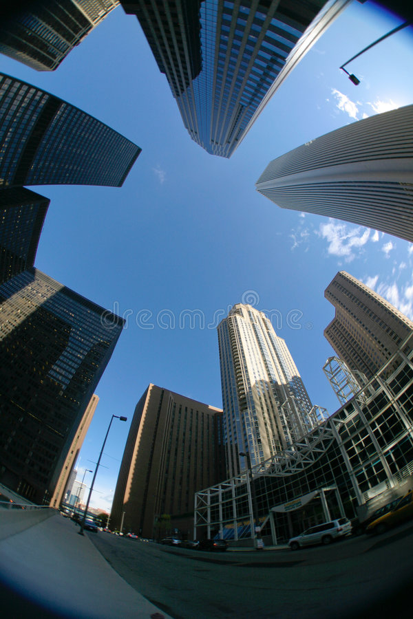 Download Downtown Skyscraper stock image. Image of wide, angular - 1395213