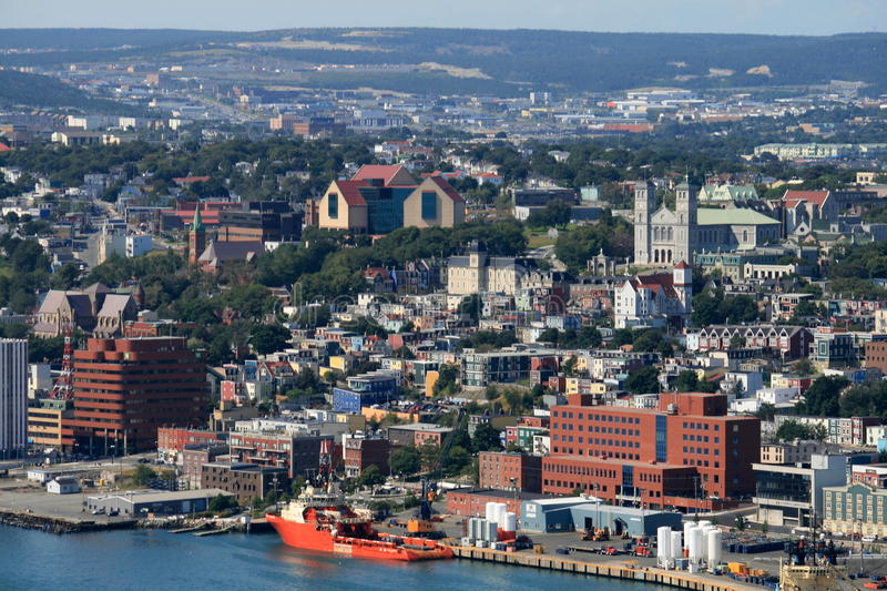 Downtown St. John's royalty free stock photography