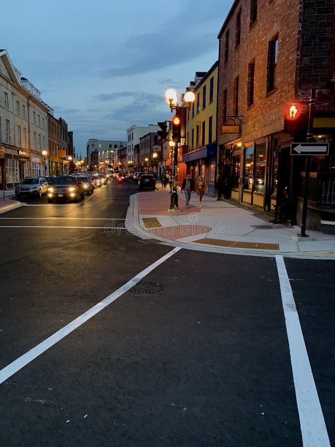 Downtown St John's, Nowa Fundlandia fotografia stock