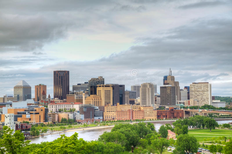 Download Downtown St. Paul, MN stock photo. Image of district - 26579046