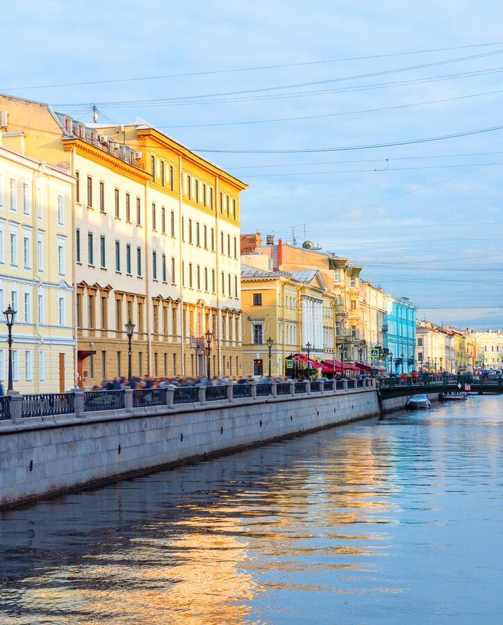 Downtown street canal, Saint Petersburg royalty free stock images