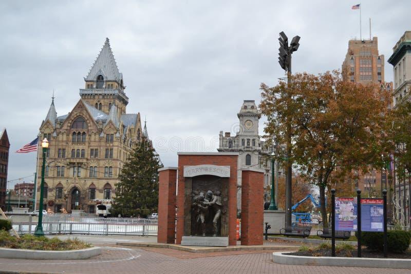 Downtown Syracuse NY lizenzfreie stockfotografie