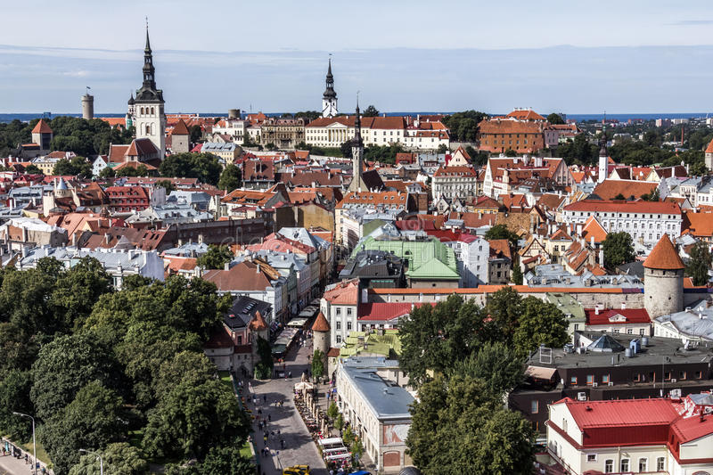 Download Downtown of Tallinn City stock image. Image of downtown - 29016687