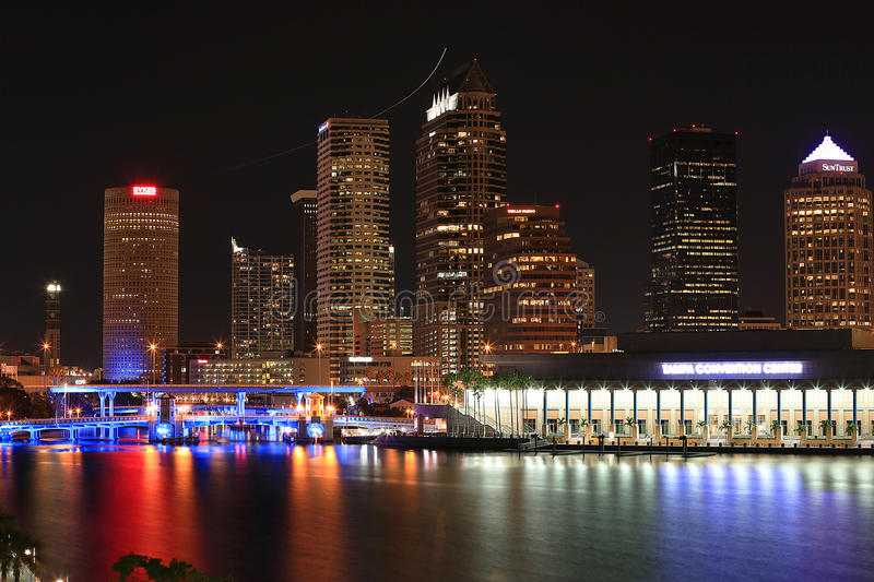 Download Downtown Tampa, Florida At Night Editorial Stock Photo - Image: 29611883