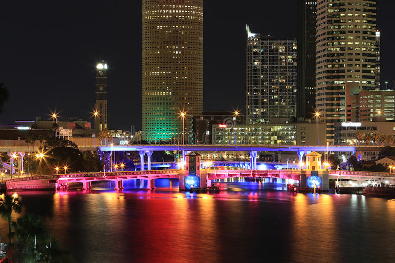 Download Downtown Tampa, Florida At Night Editorial Photo - Image: 29611906